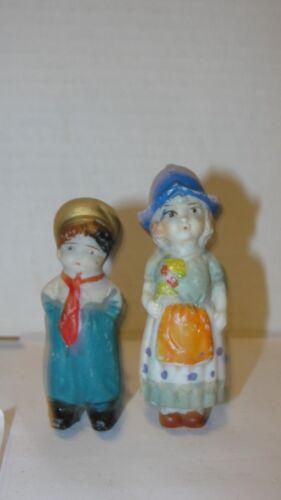 VINTAGE FROZEN CHARLOTTE STYLE BOY & GIRL FIGURINES