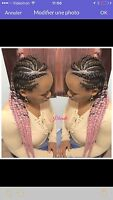 BRAID for caucasiene hair+TRESSES AFRICAINE CALL819-968-9427