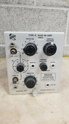 Tektronix Type G Plug In Unit For Oscilloscope Works