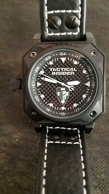 NFW Autopilot Mens WatchTactical Insider 44mm Forged Stainless Steel Mint Cond.