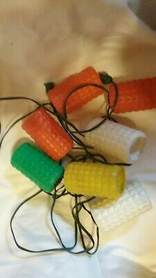 Vintage Blow Mold Camper Patio Lights Lanterns Set of 6 Red Yellow Green White