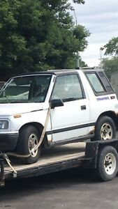 Geo tracker hard top