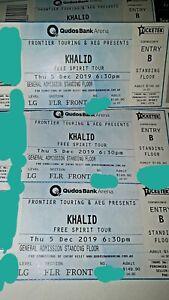 Khalid General Admission hardcopy 1x tickets Thursday 5th Sydney