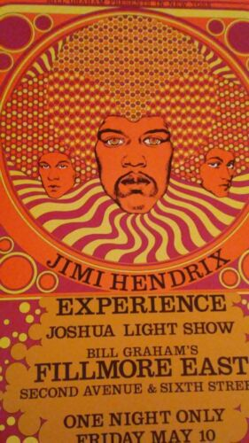 Jimi Hendrix Experience   May 10,1968 Fillmore East NYC NY CONCERT POSTER mint