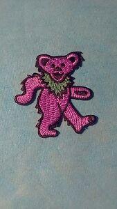 Grateful Dead Purple Dancing Bear 2 x 1.75 Inch Iron On Patch