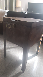 Vintage metal sidetable with storage Sans Souci Rockdale Area Preview