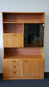 Wood/ glass cabinet / bar - free to a good home!  Belconnen Belconnen Area Preview