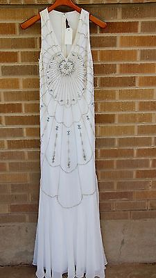 Beads Online (NWT~Ranna Gill~BLDHN Beaded Column Wedding Gown~Ivory~6~$1400 *SOLD OUT)
