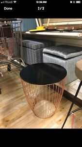 Rose gold side tables