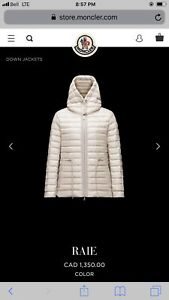 Small Moncler Raie light spring jacket
