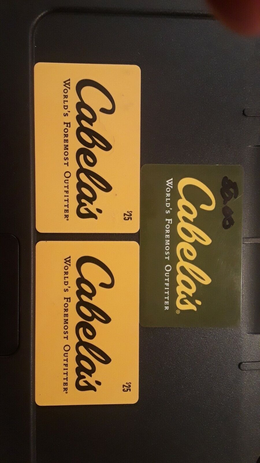 Cabelas Gift Cards - $93.00