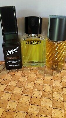 Lot of 3 classic men's fragrances,Dunhill for Men,Versace L'Homme,Bogart for Men