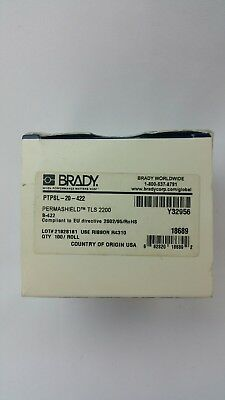 Brady Permashield Tls 2200 Ptpsl-20-422 White B-422 Thermal Printer Label 100