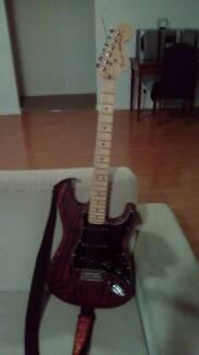 Fender strat 2016 crimson red sandblasted