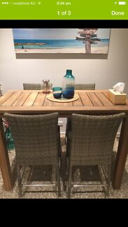 Wooden hight dinning / outdoor table with 4 chairs for sale  Waterloo Inner Sydney Preview
