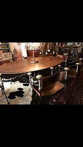 Antique copper bronze table Richmond Hawkesbury Area Preview