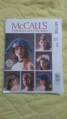 McCall's M7705 Misses Costume Hats Sewing Pattern - Brand New - Free Shipping Free Hat Sewing Patterns