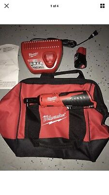 Brand New Milwaukee M12 12-Volt Lithium-Ion Cordless 1/4 in. Ratchet Kit 2456-21