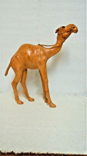 Leather Dromedary Camel 14 inches tall