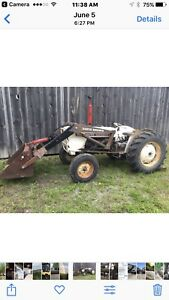 David brown front loader tractor (case )
