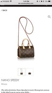 Looking for a Louis Vuitton mini speedy or nano speedy