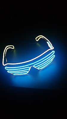 Fire Sale!! 2 pair of LED Glow Shutter Sun Glasses for Concert EDM Electro (Celebrity Sunglasses For Sale)