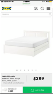 IKEA queen bed, mattress and drawers! Combo deal or sold seperately!