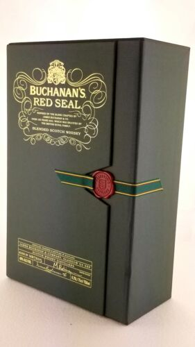 EMPTY Box Buchanan's Red Seal Blended Scotch Whiskey Collector Pristine Unused
