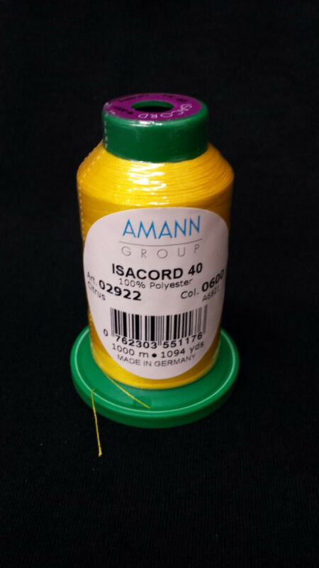 1000m Isacord thread ANY COLOR (colors 0003-0702) NEW IN WRAPPER