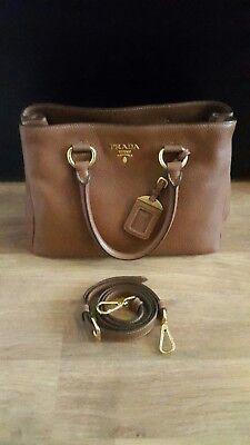 6cba18da38ac5 Original PRADA Damen Handtasche Cognac Canella Kalbsleder NEU!