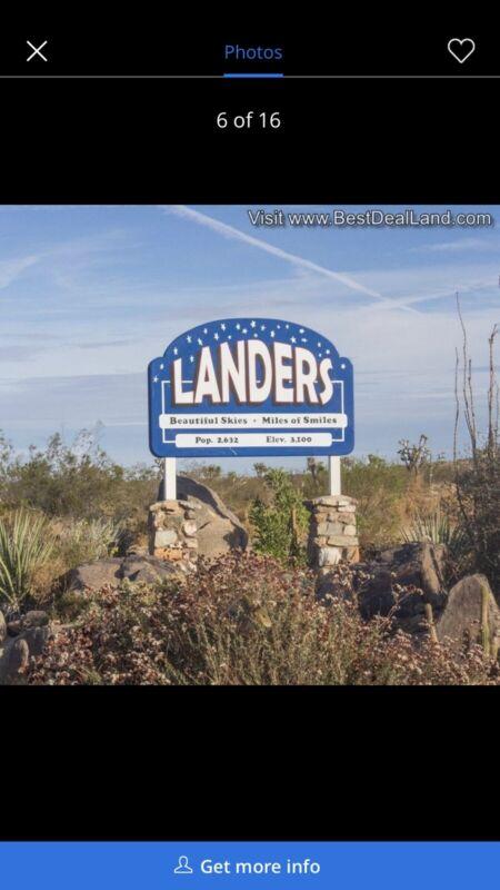 5 acres Lot in California Landers Free Closing Cost