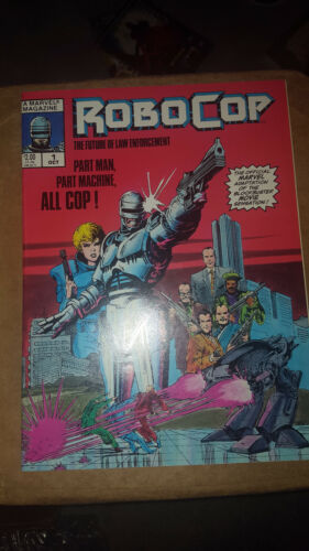 RoboCop #1 (Oct 1987, Marvel Magazine) movie adaptation VERY GOOD CONDITION ! !