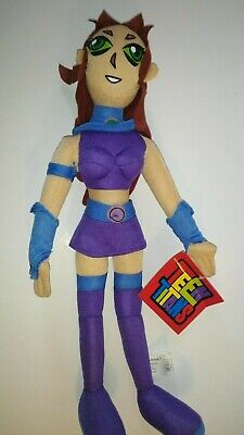 "05 Toy - Toy Network Teen Titans Starfire 14"" Plush Figure 2005 - NWT"