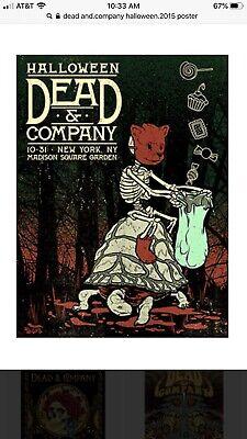 DEAD & COMPANY HALLOWEEN 10/31/15 NEW YORK CITY NYC POSTER MADISON SQUARE GARDEN