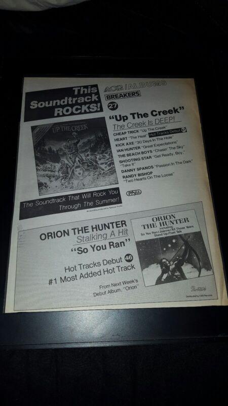 Up The Creek Orion The Hunter Rare Original Radio Promo Poster Ad Framed!