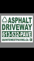 Recycled asphalt driveways