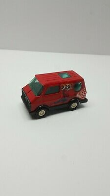 "Vintage 1980's Buddy L Pressed Steel Diecast Red ""Amazing Spider Van"" SpiderMan"