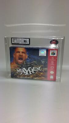 Nintendo N64 WCW MAYHEM 1999 NTSC New Sealed UKG not VGA graded 85 NEAR MINT!