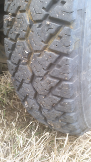Tyres on rodeo rims x4.  75% $300. Phone or text andrew for more