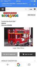 London Bus Bunk Bed - Near New ... Paradise Campbelltown Area Preview