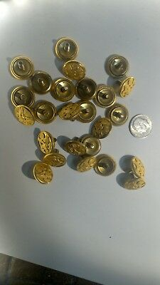 Small Vintage US Army Brass BUTTONS. Eagle & Shield WATERBURY CONN. lot of 25