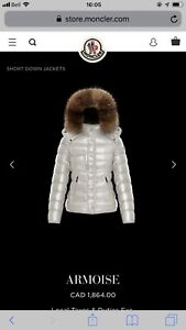 Brand New Authentic  Moncler Armoise  white jacket size 1