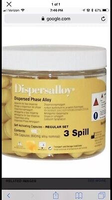 New 50 Count Dispersalloy Dental Amalgam 3 Spill Regular Set Expires In 2020.