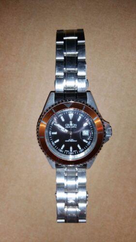 Croton Men's Diver's Wristwatch (CA301159) **Black Face / Orange Dail**
