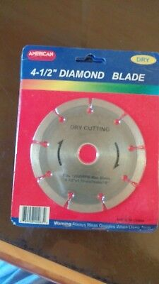new 4.5 inch diamond saw blade american tool exchange dry cutting please see pic American Tool Saw Blade