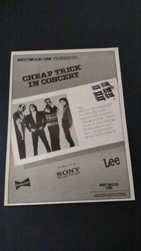 "CHEAP TRICK ""IN CONCERT""  (1982)  RARE ORIGINAL PRINT PROMO POSTER AD"