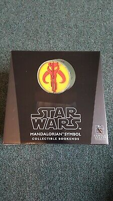 Star Wars Gentle Giant Mandalorian symbol bookends