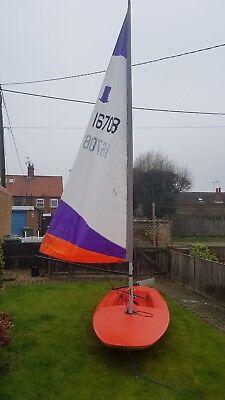 Topper Dinghy sailing dinghy good sail fair hull almost ready to sail