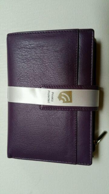 ALANA RFID BLOCKING LEATHER WALLET Cobb & Co 58601PLR -  Purple