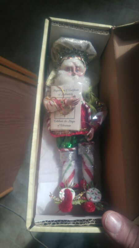 "Mark Roberts Peppermint Dreams Elf Fairy Sm 51-27928 11.5"" Inch Christmas NIB"